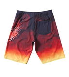 FMF Racing Mens Smokin Flames and Smoke Board Shorts Back