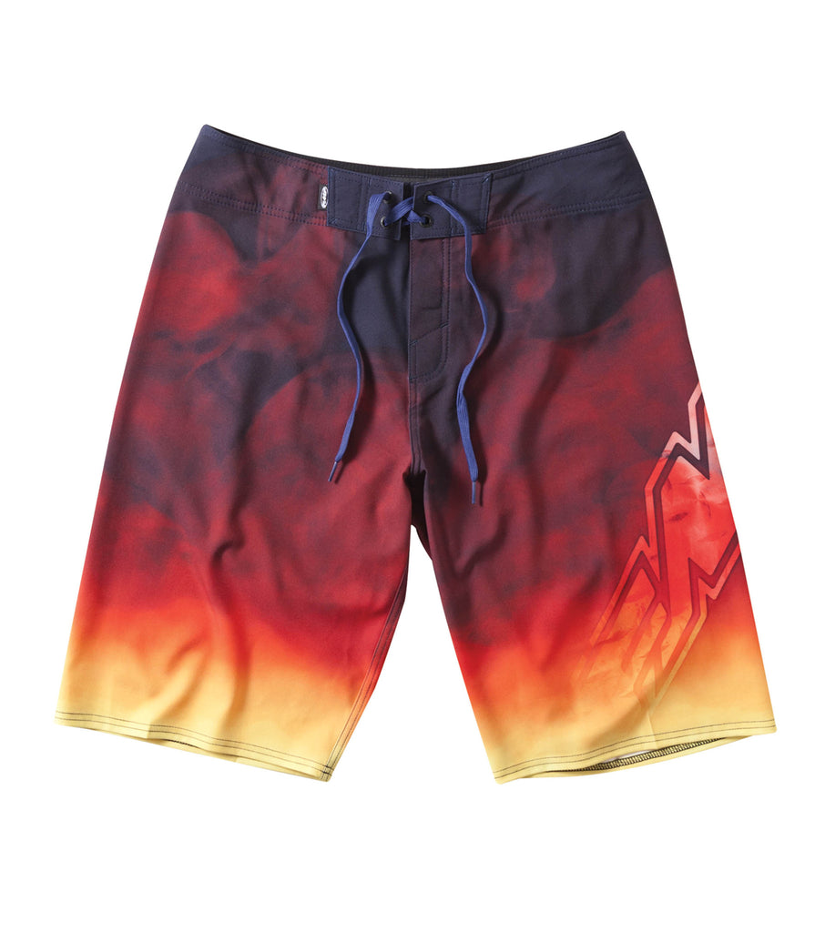 FMF Racing Mens Smokin Flames and Smoke Board Shorts