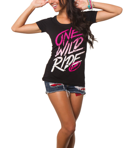 "FMF Racing Women's ""Fade Out"" One Wild Ride Tee"