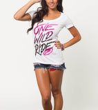 FMF Racing Fade Out One Wild Ride Tee White