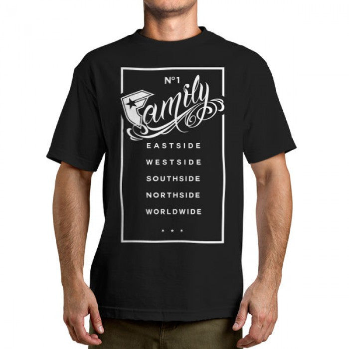 Famous Stars and Straps Family Rectangle Men's Tee Black