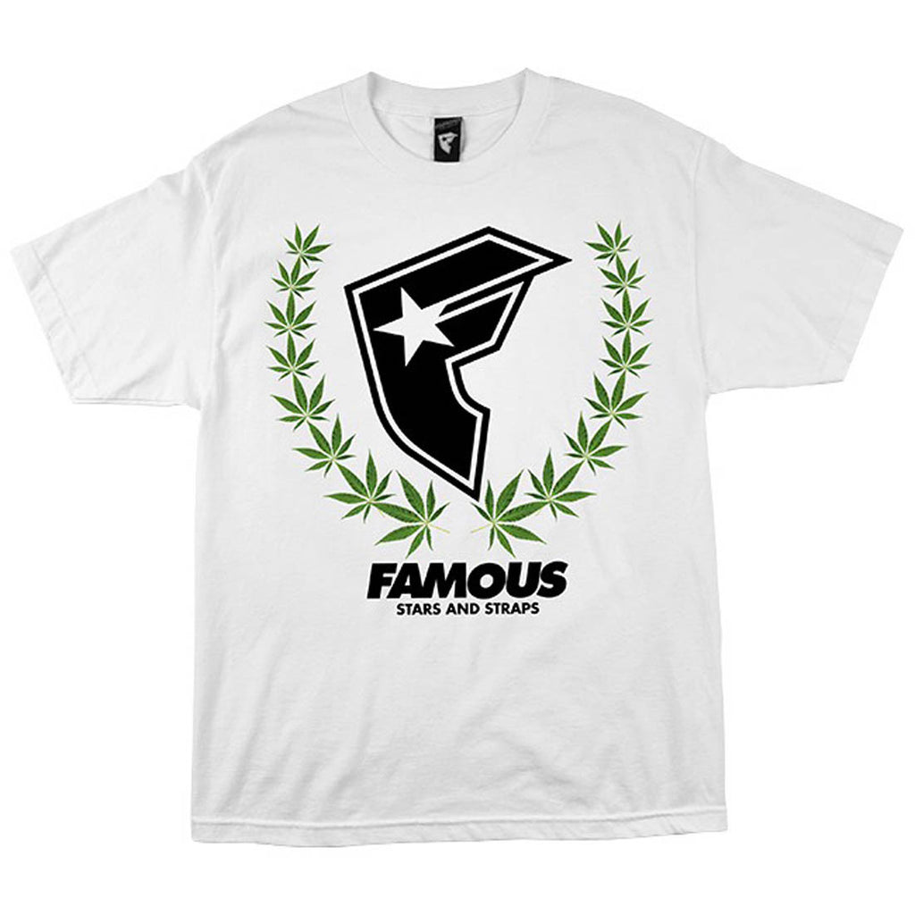 Famous Stars and Straps Weed 420 Wreath White