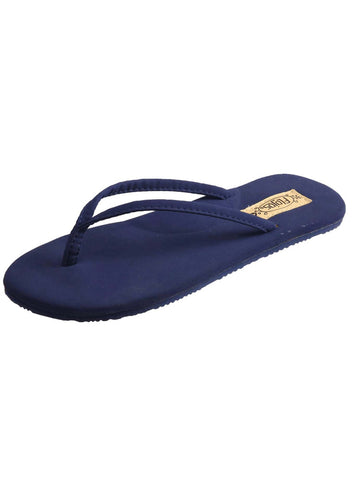 Flojos Women's Fiesta Thong Sandals Navy Blue