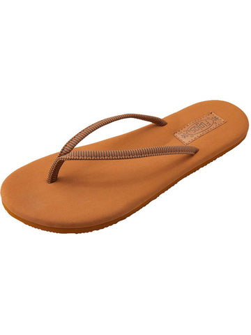 Flojos Women's Fiestas Tan Stripe Thong Sandals
