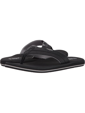Flojos Men's Ryan Tutone Strap Black Sandals