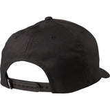 Fox Racing Men's Forty Five 110 Snapback Hat Black on Black Back