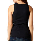Fox Racing Women's Miss Clean Henley Tank Top Black Back