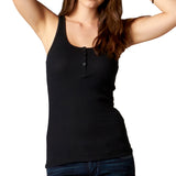 Fox Racing Women's Miss Clean Henley Tank Top Black