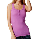 Fox Racing Women's Miss Clean Henley Tank Top Neon Lilac