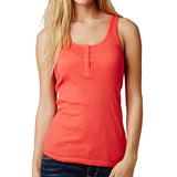 Fox Racing Women's Miss Clean Henley Tank Top Wild Cherry