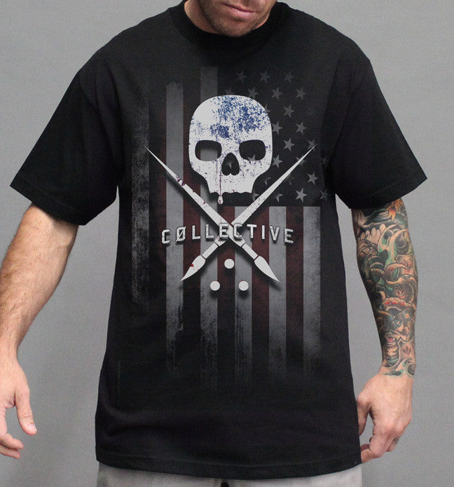 "Sullen ""Merica"" Limited Edition American Flag Tattoo Tshirt"