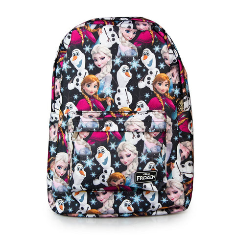 Loungefly Disney Frozen Elsa, Anna and Olaf All Over Print Backpack