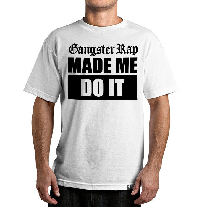 Famous Stars and Straps Gangster Rap Men's Tee White