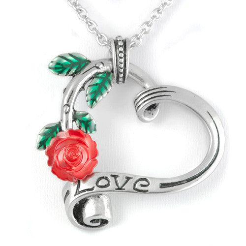 Controse Garden Heart Elite Rose Heart Love Necklace