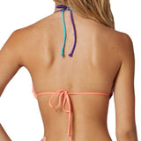 Fox Racing Juniors Image Triangle Bikini Top Orange Sherbert Back