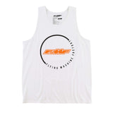 FMF Racing Men's Lapped Tank Top White