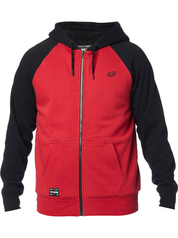 Fox Racing Men's Legacy Sherpa Lined Fleece Zip Up Hoodie