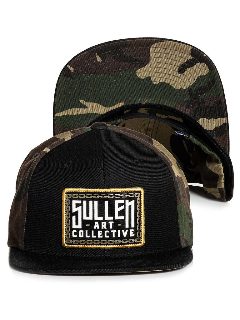 Sullen Men's Lockup Snapback Camo Hat