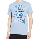 Fox Racing Men's Mapped Out Tee Blue