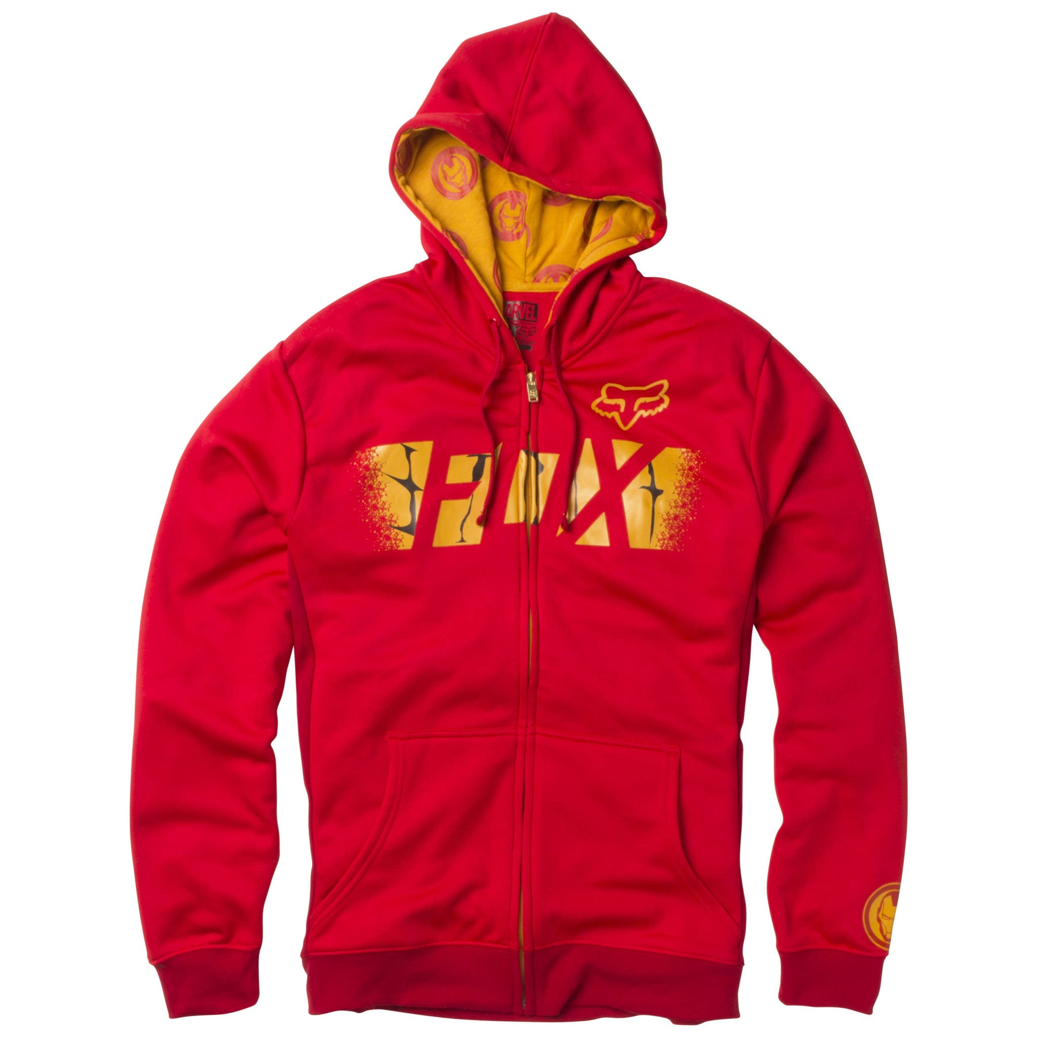 Fox Racing Marvel Iron Man Men's Zip Up Hoodie | Vulcinity