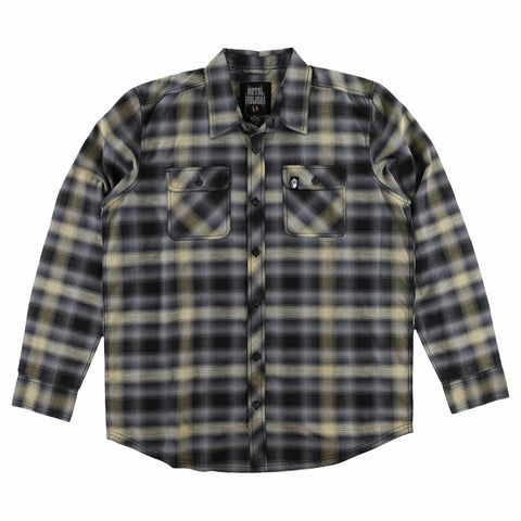 Metal Mulisha Men's Misdemeanor Long Sleeve Woven Flannel Shirt