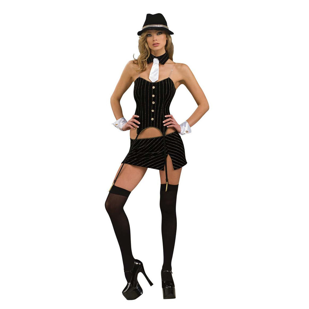 Rubies Women's NLP Ms. Gangster Costume