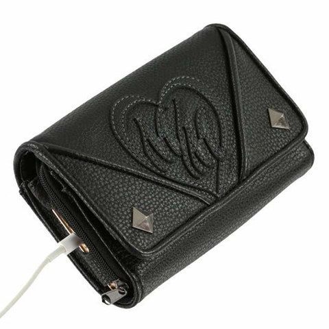 Metal Mulisha Women's No Class Jet Black Wallet