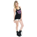 Y&R Women's No Photos Please Racerback Tank Top Pose