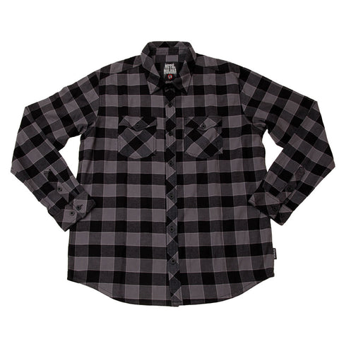 Metal Mulisha Men's OG Woven Button Down Flannel