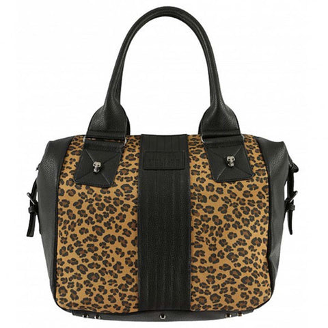 Metal Mulisha Women's Outlaw Leopard Print Tote Bag