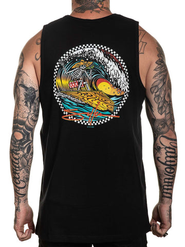 Sullen Men's Pitted Skeleton Surfing Tank Top