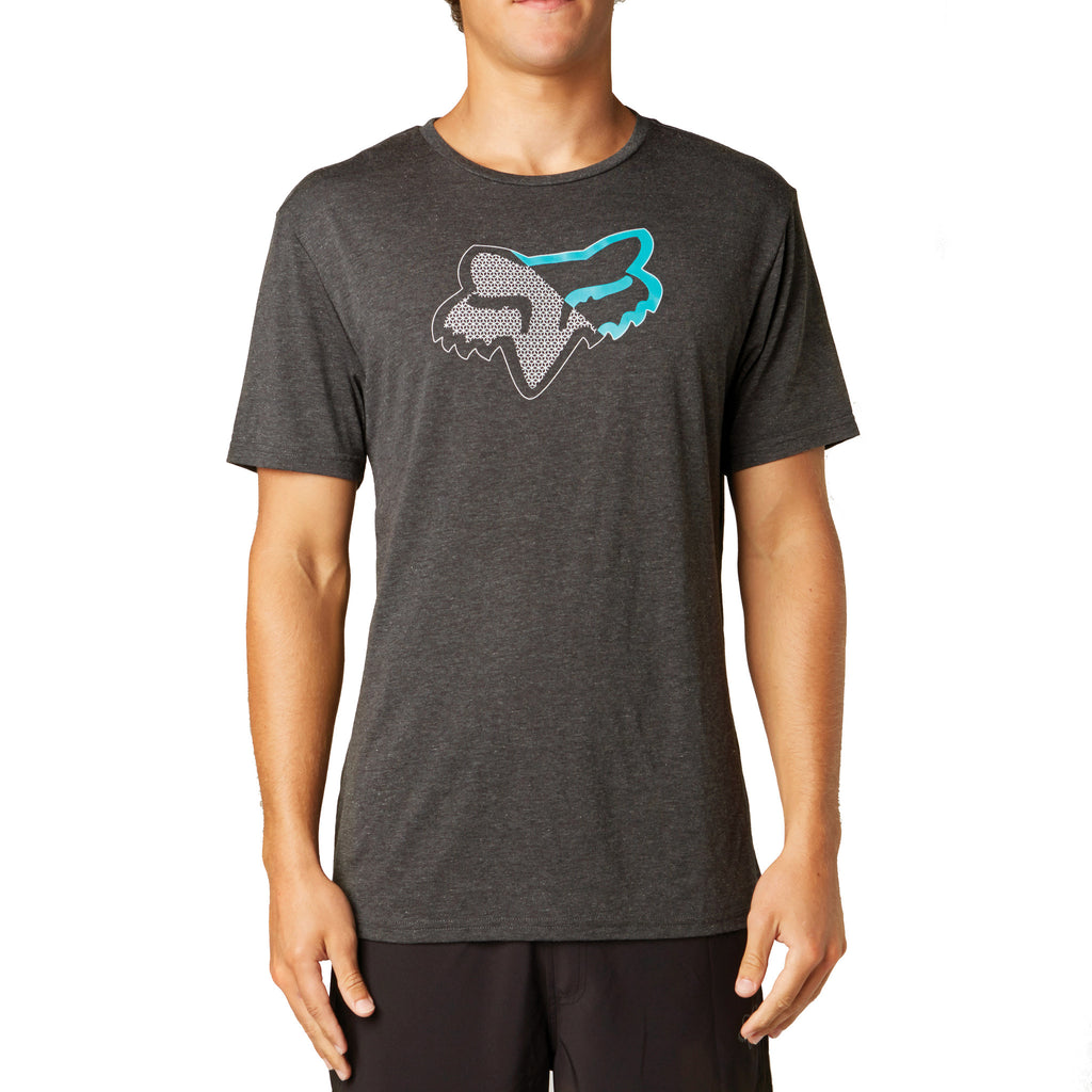 Fox Racing Quantic Tech T-Shirt Heather Black Front