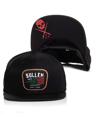 Sullen Men's Red Rose Snapback Hat