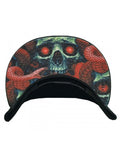 Sullen Men's Red Scales Snapback Hat with Print Under the Bill