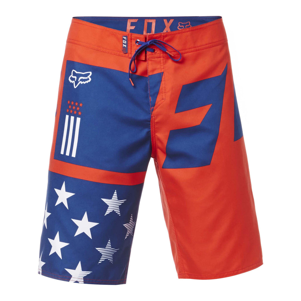 Fox Racing Men's 2017 Red White and True Boardshorts White