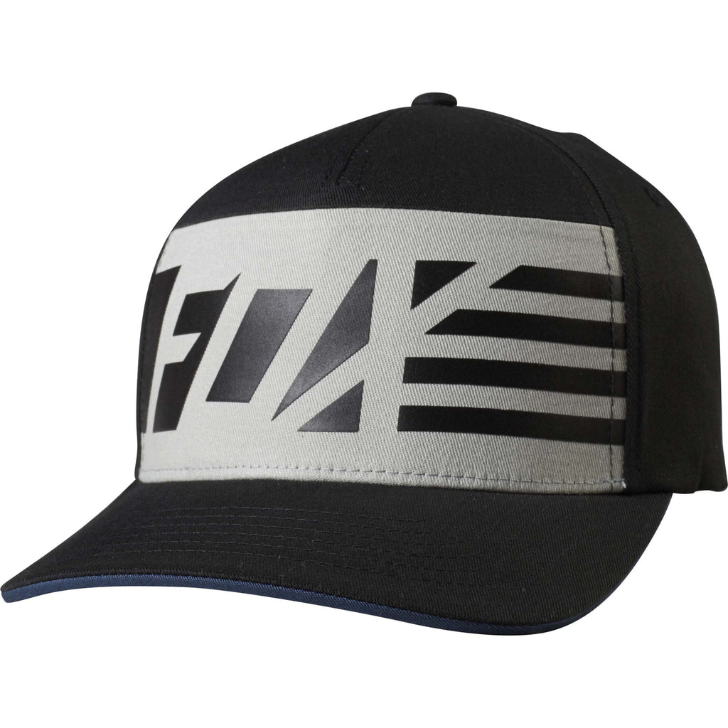 Fox Racing Men's Red White and True Flexfit Hat Black