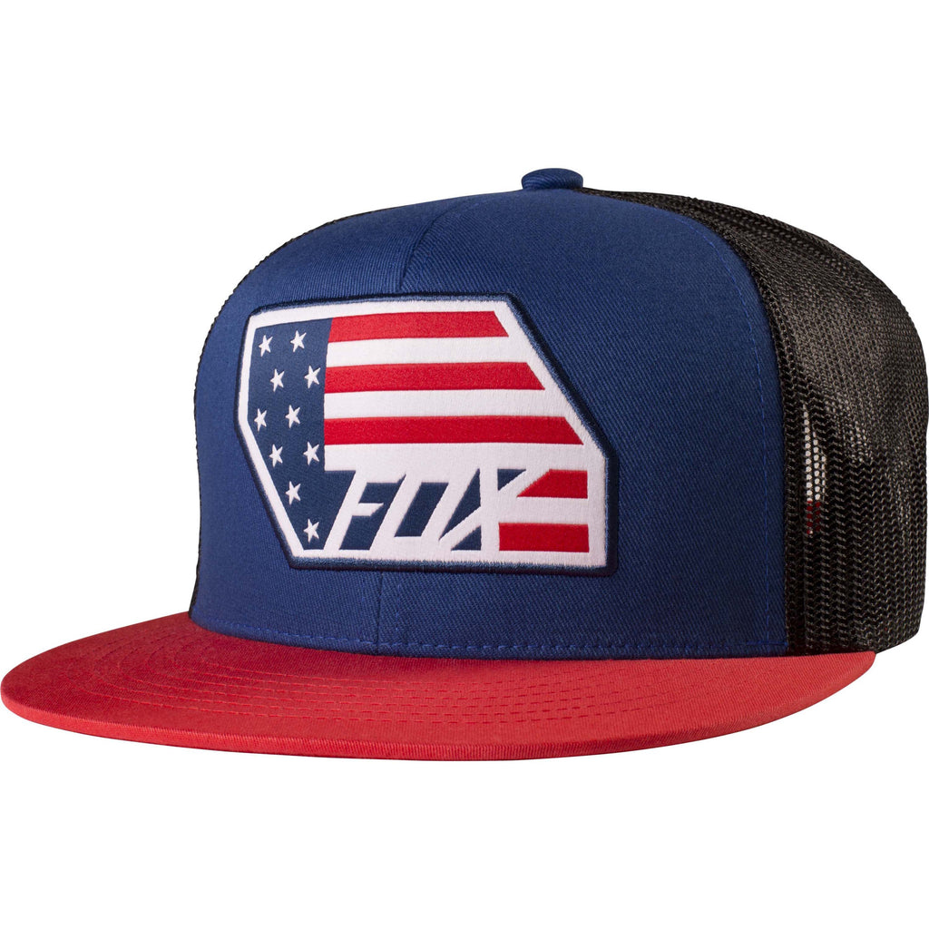 Fox Racing Men's Red White and True Snapback Hat Blue