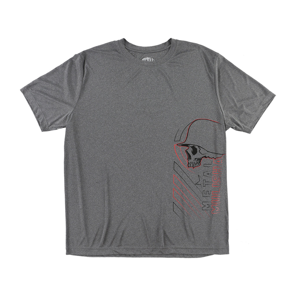 Metal Mulisha Men's Revolve Techgnar Tee Charcoal Heather Grey