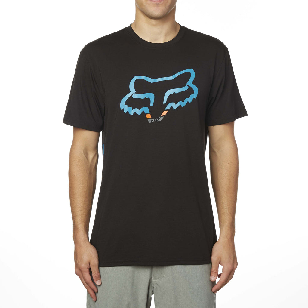 Fox Racing Men's Seca Head Short Sleeve Tech Tee Blue