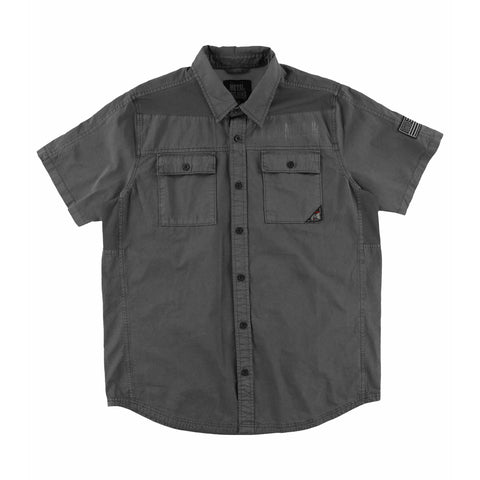 Metal Mulisha Men's Shopkeep Button Down Short Sleeve Shirt