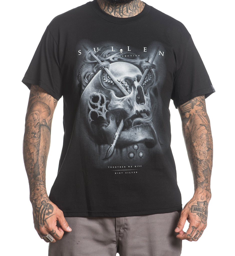 Sullen Men's Silver Badge Short Sleeve Tee