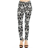 Vulcinity Large Skull Print Leggings