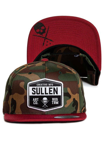 Sullen Men's Slab Snapback Camo Hat