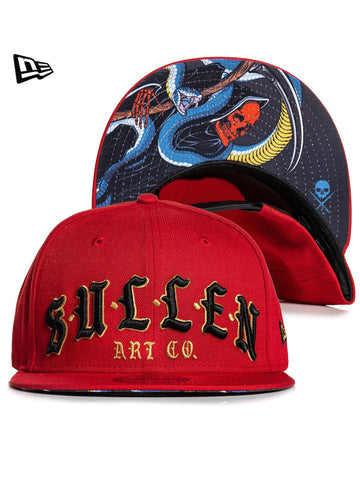 Sullen Men's New Era Snake Reaper Snapback Hat