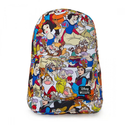 Loungefly Snow White and the Seven Dwarfs Character Print AOP Backpack