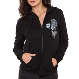 Metal Mulisha Juniors Soar Zip Up Hoodie Black