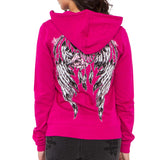 Metal Mulisha Juniors Soar Zip Up Hoodie Pink Back