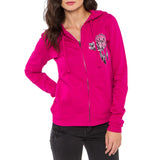 Metal Mulisha Juniors Soar Zip Up Hoodie Pink