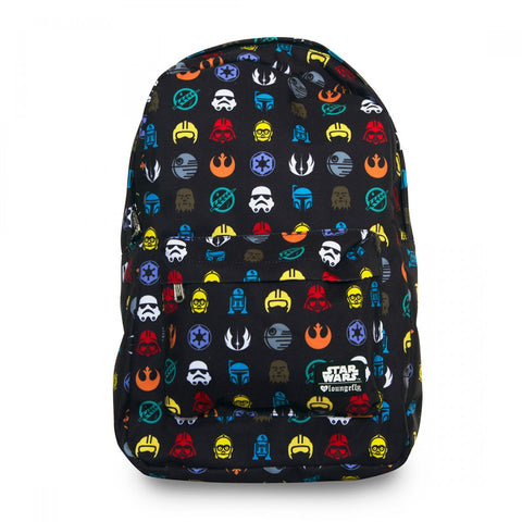 Loungefly Star Wars Multi Symbol Print AOP Backpack