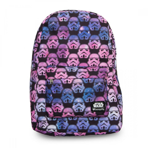 Loungefly Star Wars Ombre Stormtrooper Head Print AOP Backpack